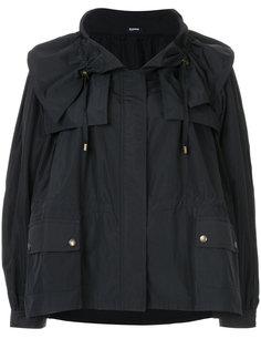 расклешенное пальто на молнии  Jil Sander Navy