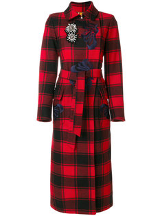 checked trench coat  Bazar Deluxe