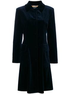 однобортное пальто  Alberta Ferretti