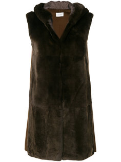 меховое пальто без рукавов Yves Salomon