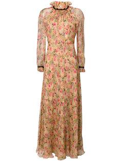 длинное платье с цветами Vilshenko