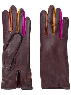 перчатки с контрастными панелями Paul Smith