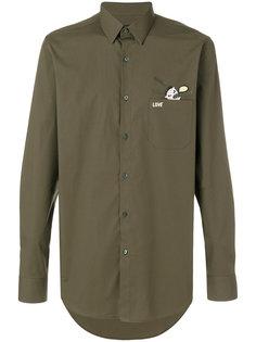 рубашка с вышивкой Bag Bugs  Fendi