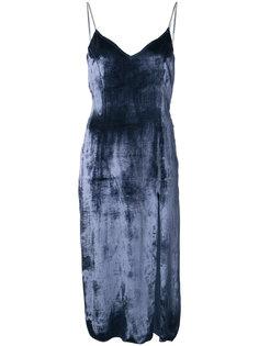 low back velvet slip dress Baja East