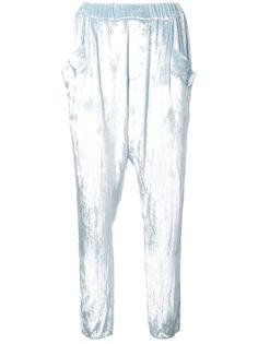 velvet tapered trousers Baja East