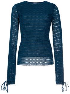 open knit blouse Egrey