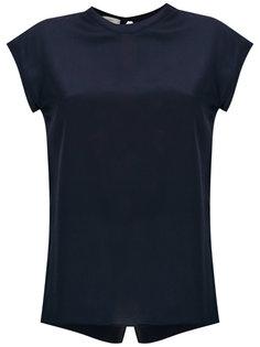 rear slit T-shirt Egrey
