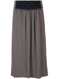 юбка с контрастным поясом  Jil Sander