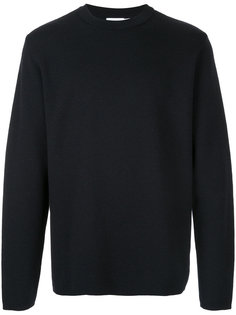 crew neck knit top Sunspel