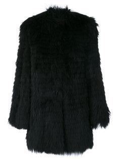 fringed coat Yves Salomon