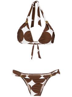 printed triangle bikini set Adriana Degreas
