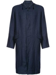 однобортное пальто с мятым эффектом Casey Casey