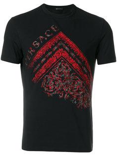 футболка с вышивкой в стиле барокко Versace