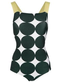 polka dot print swimsuit Adriana Degreas