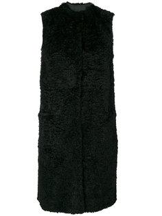 длинная куртка с отделкой из цигейки  Salvatore Santoro
