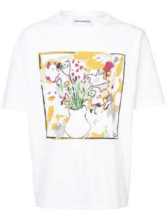 Flower Vase printed T-shirt Rochambeau