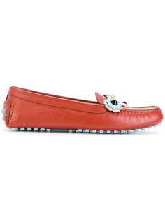 embroidered loafers Fendi