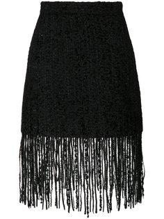 юбка с бахромой  MSGM