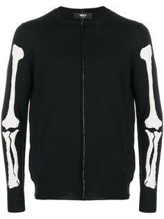 трикотажный свитер с изображением костей Yang Li
