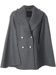 двубортный пиджак-кейп  Ermanno Scervino