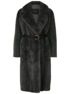 belted long line coat Blancha