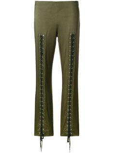 брюки слим с люверсами и шнуровкой  Moschino