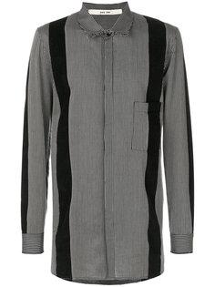 полосатая рубашка с панельным дизайном Damir Doma