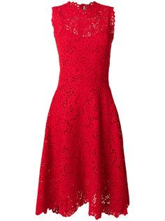 кружевное платье с высокой горловиной Ermanno Scervino