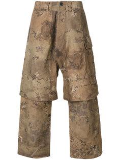 многослойные брюки с графическим принтом Ziggy Chen