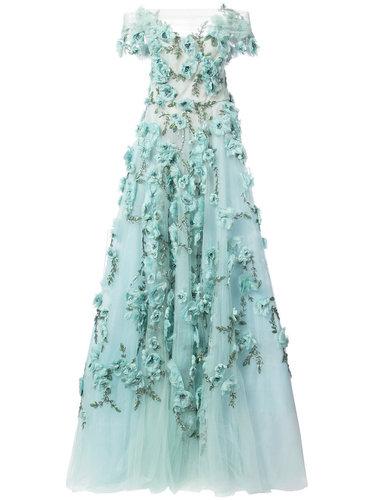 floral embellished evening dress Marchesa