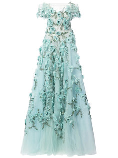 floral embellished evening dress Marchesa