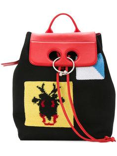 рюкзак с вязанными заплатками J.W.Anderson