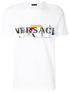 футболка с принтом-логотипом László  Versace