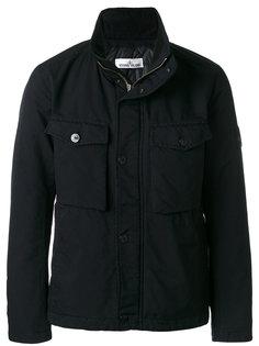 куртка на молнии с накладными карманами Stone Island
