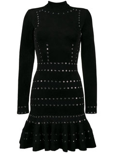 платье с длинными рукавами и заклепками  Alexander McQueen