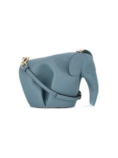 кожаная мини-сумка на плечо в форме слона Loewe