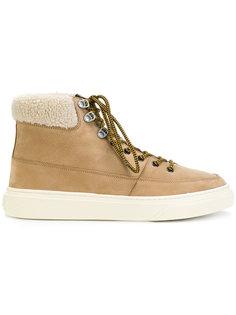 ботинки на шнуровке с меховой оторочкой Hogan