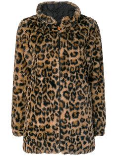 пальто из искусственного меха с леопардовым принтом  Save The Duck