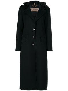 длинное пальто с оборкой на воротнике  Burberry