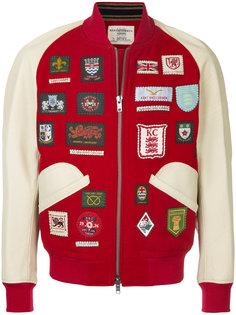 куртка-бомбер  с заплатками Kent & Curwen
