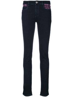 джинсы скинни с заплаткой в шотландскую клетку Ultràchic