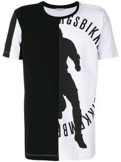 футболка с асимметричным принтом Dirk Bikkembergs