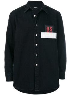 джинсовая рубашка с заплаткой Raf Simons