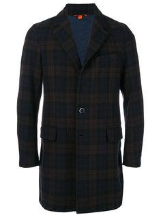 клетчатое пальто с длинными рукавами Barena