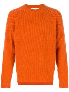 свитер с круглым вырезом в рубчик Marni