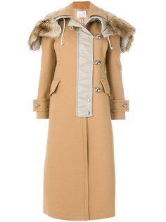 пальто с застежкой спереди Sacai