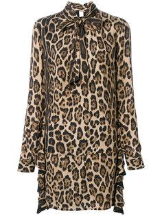 платье с леопардовым принтом и завязкой  Twin-Set