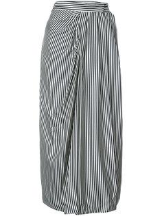 striped gathered skirt Zimmermann
