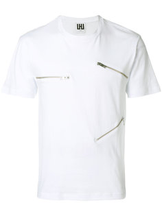 zip trim T-shirt Les Hommes Urban