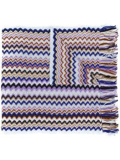 трикотажный шарф с зигзагообразным узором M Missoni